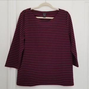 Ann Taylor pullover tunic striped XL